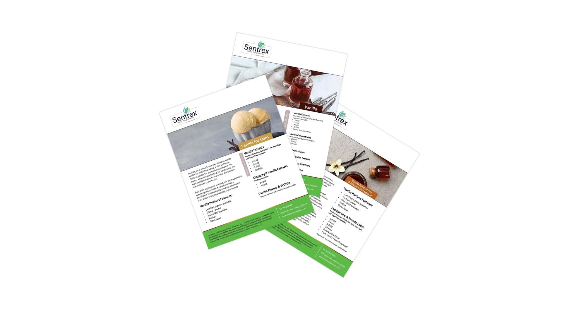 Vanilla sales sheets