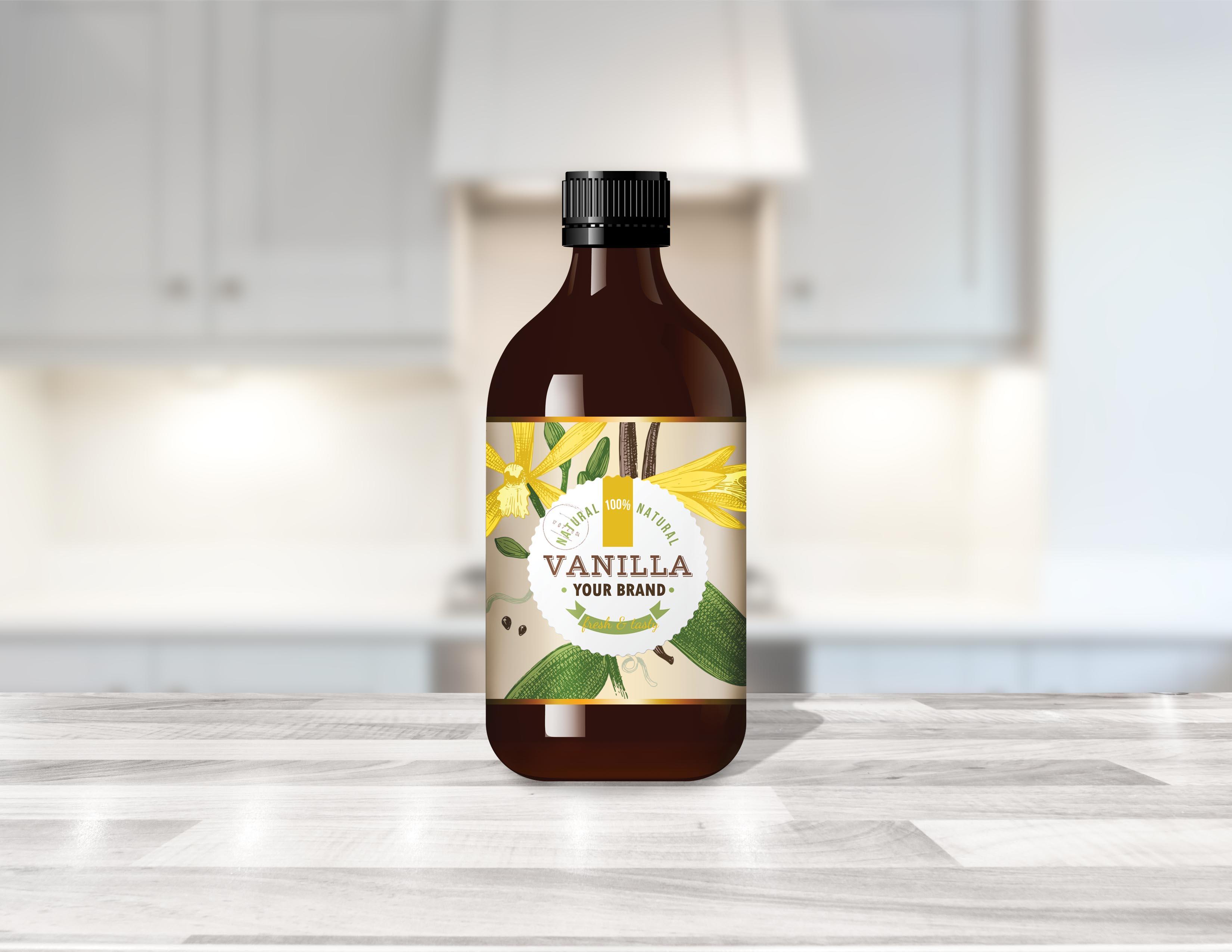 Private Label Vanilla in kitchen